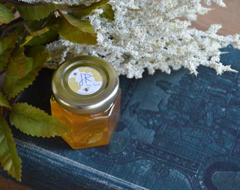 Lot of 24 2oz Hexagonal Jars of Honey, Wedding Favor, Baby Shower Favors, Party Favors, Gift Ideas, Honey Pot
