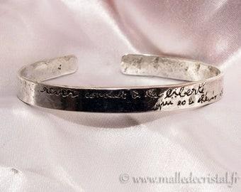 Silver sterling BRACELET - NAME Engraved