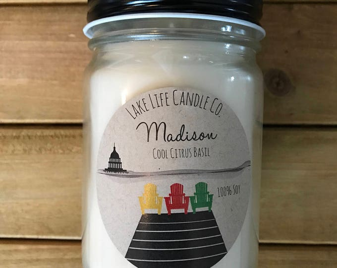 Madison Handmade Soy Candle: Lake Life Candle Co.
