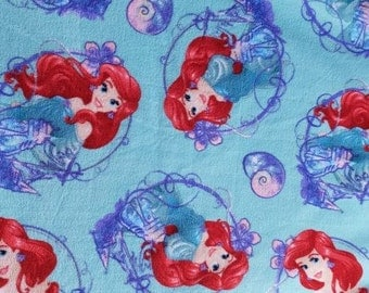 READY TO SHIP Princess Ariel Knotted Fleece Throw With Antipill Backing