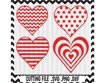 Hearts SVG, Valentine Svg, Love, Svg, Png, Dxf, Cutting File For Cricut and Silhouette Cameo.