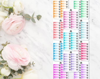 GLOSS | Step Tracker Dollar Prints | Watercolour | Erin Condren | Vertical | Planners