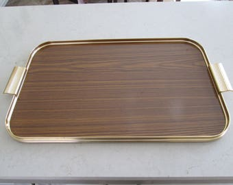 Vintage Faux Wood Tray