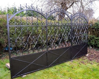 Victorian Wrought Iron Estate Gate - Hand Forged!