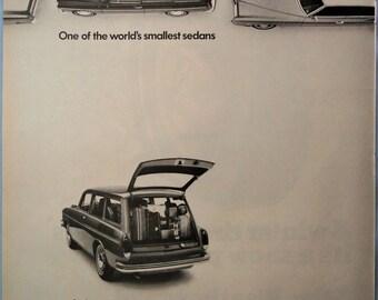 1970 VW Sedan ad.  1970 Volkswagen Squareback.   Vintage VW Squareback ad.  Life Magazine.  October 31, 1969.