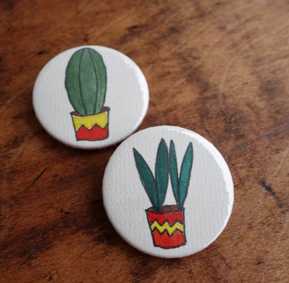 Kaktus zum Mittnehmen - Buttonset Kaktus 2 Stück