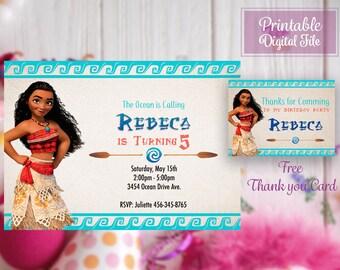 Moana party, Moana Invitation, Moana birthday, Printable Moana, Moana invite, Moana Printables, Moana birthday invitation, Moana bday, Moana