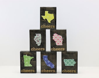 Cheers- Any State Picture Block- Family Picture Frame