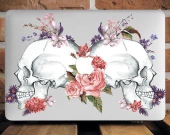 Skulls MacBook Pro Retina 13 Cover MacBook Pro 15 Case Roses Watercolor MacBook Air Case Mac Pro 13 Inch Case Macbook Air 13 Cover WCm110