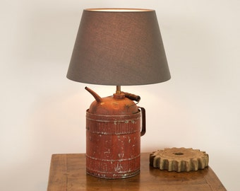 Red Oil Can Lamp