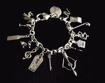 DARYL DIXON - BETH Green - The Walking Dead - Themed Charm Bracelet - Norman Reedus - Zombie Jewelry - The Walking Dead Gift - Daryl Wings