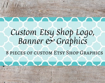 Custom Etsy Banner, Custom Etsy Shop Set, Custom Etsy Starter Set, Custom Etsy Starter Kit, Custom Etsy Banner Set, OOAK Shop Banner