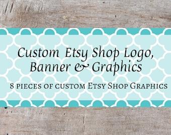 Custom Etsy Banner, Custom Etsy Shop Set, Custom Etsy Starter Set, Custom Etsy Starter Kit, Custom Etsy Banner Set, OOAK Shop Banner