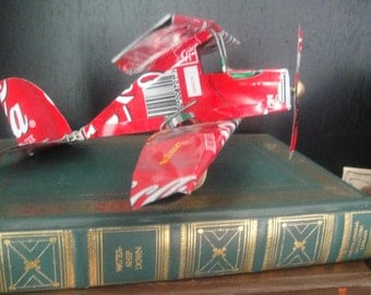 Unique vintage Coke can biplane