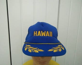 Rare Vintage HAWAII Embroidered Cap Hat Free size fit all