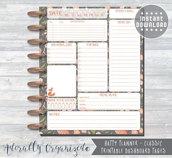 Happy Planner Calendar Refills : Happy planner printable daily refills inserts x