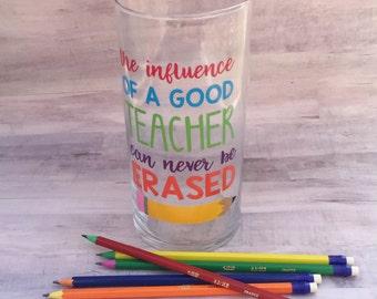 Teacher Gift Pencil Holder - Teacher Christmas Gift - Classroom Gift - Classroom Decor