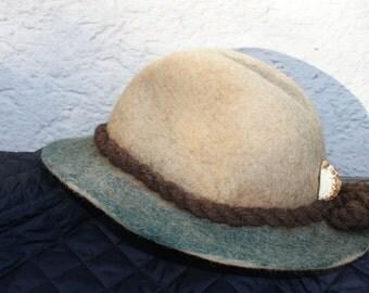 handmade felt (walk) hat, Gr. 56, unisex, Bestcondition