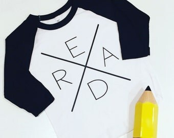 READ Baseball Raglan Tee- 3/4 Length Sleeves