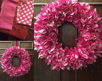 Custom Colorful Handmade Fabric Wreaths