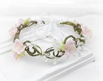 Flower Crown , Hair Accessories, Wedding Tiara, Bridal flowers, Wedding hair wreath, Rustic Headpiece, Hair Wreath, Boho, Bridal headpiece