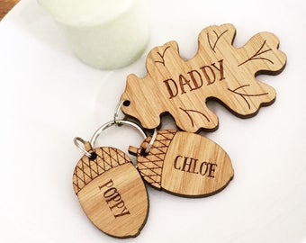 Fathers Day Gift Personalised  - Personalised Daddy Keyring - Personalised Dad Gift - Personalised Gift for Him - Grandad Gift - Uncle Gift