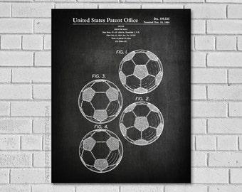Soccer Wall Art - Soccer Wall Decor - Soccer Poster - Soccer Print - Soccer Gifts - Soccer Decor - Soccer Art - Soccer Ball - SS535