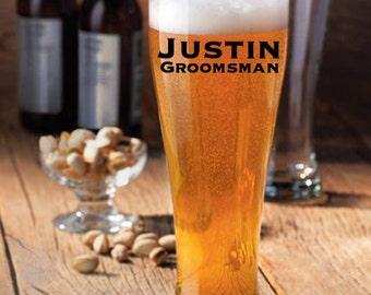 Groomsman Beer Mugs, Groomsen Beer Glasses, Beer Mug, Groomsman Gifts, Beer Glasses, Personalized Beer Mug