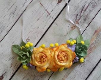 Collana, Collana con fiori, Collana fatta a mano, Collana di pasta polimerica, Accassorio donna, Accessorio, Regalo originale, Fiori