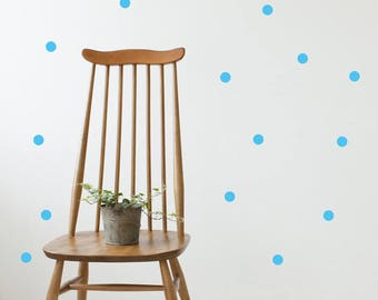 Wall Stickers Polka Dots Vinyl Blue Kids Room Pattern Decal Dots Sticker Wall Decals Matte Vinyl Set of 72