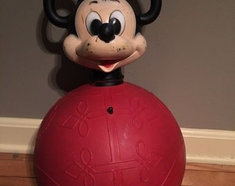 Vintage 1960s Mickey Mouse Bouncy Toy