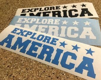 Explore America Stars vinyl sticker