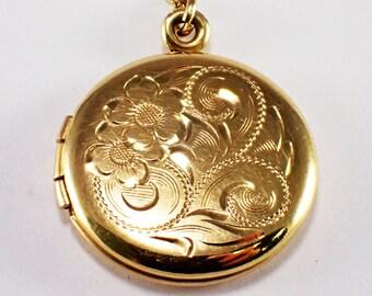 Mid-Century 14k Yellow Gold Locket