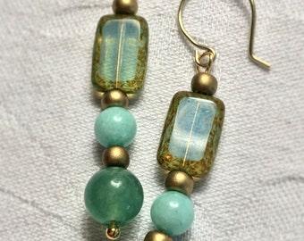Pisces Sea Green Earrings