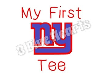 My First NY Giants Tee Svg Dxf Studio pdf jpg png