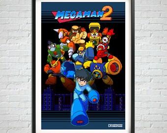 Retro Game Poster, Gamer Prints, Retro Prints, Pixel Art Print, Pixel Art Poster, Gamer Gift, Gamer Bedroom, Wall Art, Home Decor, Videogame