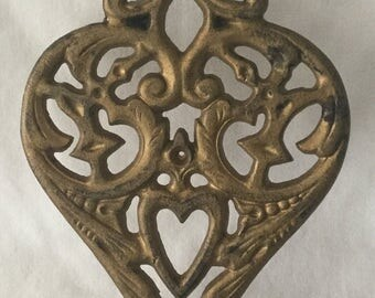 Vintage Wilton Heart Shaped Trivet