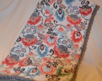 Crocheted Edge Fleece Blanket