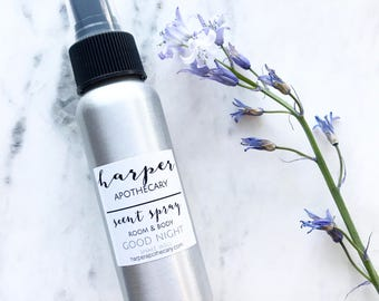Good Night Room and Body Spray / Essential Oil Spray / Pillow Mist / Sleep Aromatherapy Spray / Relaxing Room Spray / Lavender Room Spray