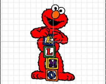 Embroidery Design Elmo from Sesame Street - with name 5x7 Hoop Size