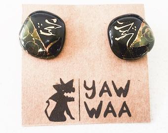 Beebee Handmade Ceramic Stud Earrings