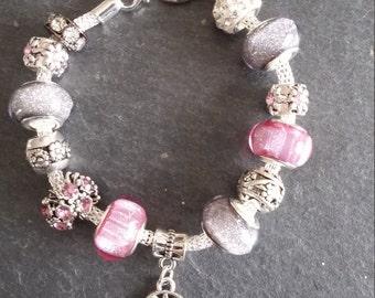 0FRAISDENVOI until 20/11 bracelet snake, charms, pendants, rhinestone, Pearl Pink and grey
