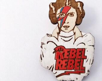 Leia Rebel Rebel Pin