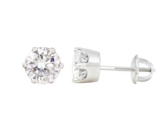 Forever Classic Charles and Colvard Moissanite Earrings with 6 Prongs