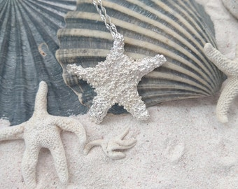 Star fish - sterling silver