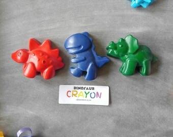 Jumbo dinosaur crayons - set of 3 - dinosaur party favors - dinosaur birthday - dino theme - crayons - dinosaur gift - dinosaur