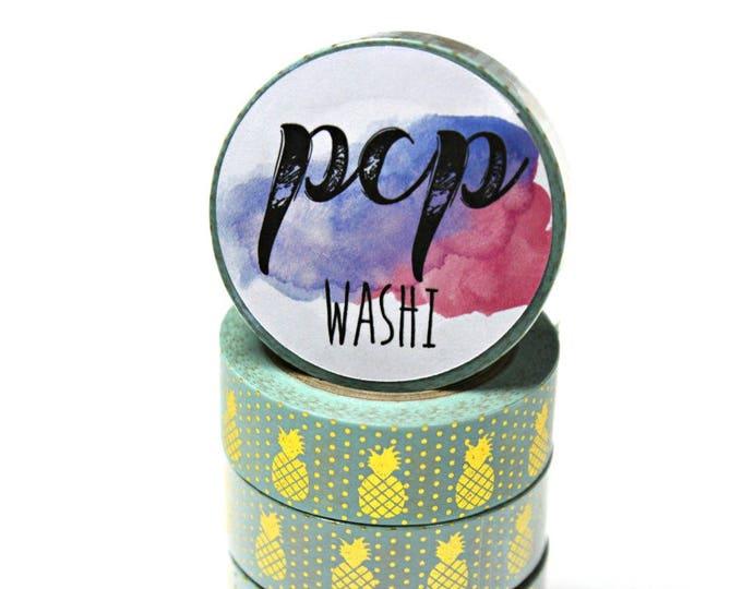 Washi Tape - Pineapple Foil Washi Tape - Gold Foil Washi Tape - Paper Tape - Planner Washi Tape - Washi - Decorative Tape - Deco Paper Tape