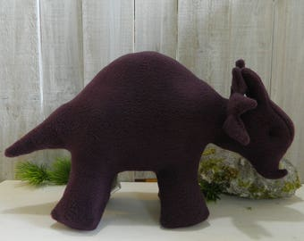 Stuffed dinosaur, stuffed Triceratops, plush dinosaur, dinosaur toy, gift for girls, gift for boys, dinosaur plushie, stuffed animal