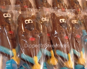 Scooby Doo inspired chocolate lollipops - 1 dozen