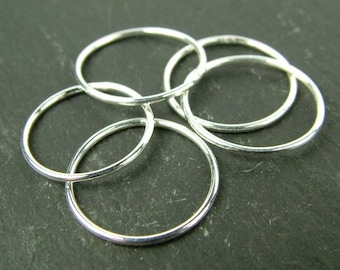 Silver Jump Rings, 10mm Silver Jump Rings, Large Silver Jump Rings, 10mm Split Ring, Silver Split Rings, Large Jump Rings, Silver Findings,